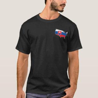 Men's Dark T-Shirt: Slovak in USA T-Shirt