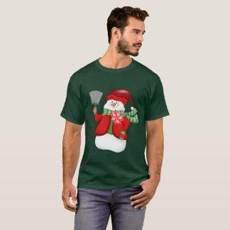 Mens Festive snowman Christmas Holiday t-shirt