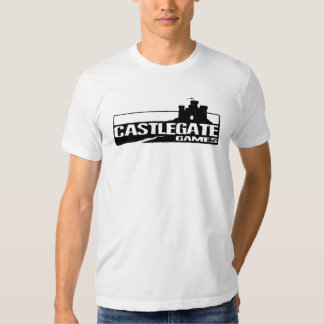 Mens Fitted T-Shirt - Castlegate Games(b&w)