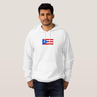 Mens Flag of Puerto Rico Hoodie