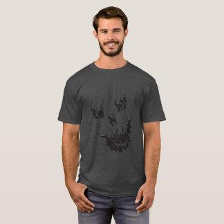 Men's Flame Skull Basic Dark T-Shirt