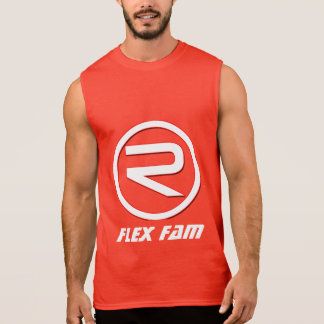 Mens Flex Fam Reflex Muscle Shirt(Red) Sleeveless Shirt