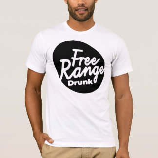 Men's Free Range Drunk Shirt. T-Shirt
