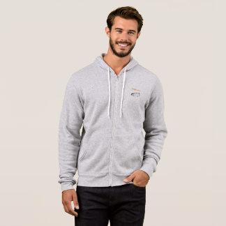 Men's full zip fishermen's hoodie