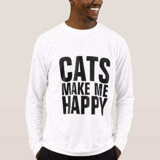 Mens Funny Cat T-shirts, CATS MAKE ME HAPPY T-Shirt