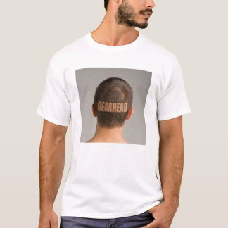 Mens Funny Gearhead Car TShirt Haircut Shaved Head
