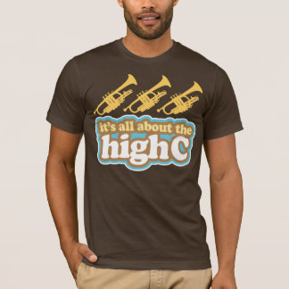 Mens Funny High C Note Trumpet Music Tee Gift
