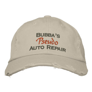 Men's Funny Mechanic Embroidered Hat