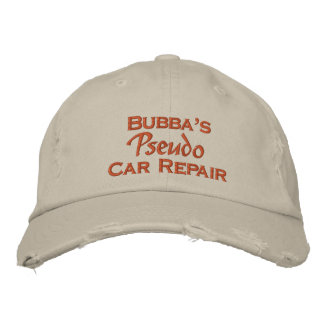 Men's Funny Mechanic Embroidered Hats