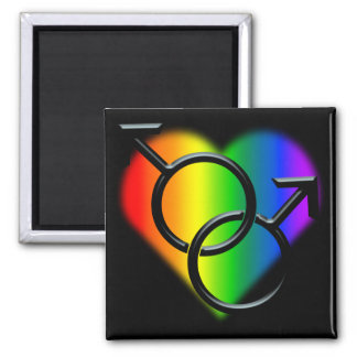 Men's Gay Pride Magnet Rainbow Love Gifts Refrigerator Magnet