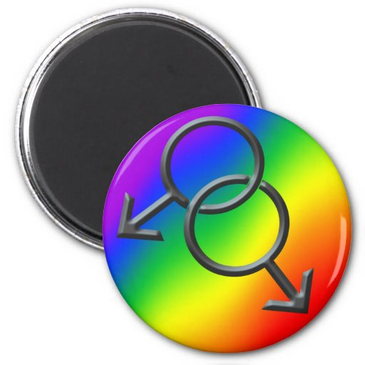Men's Gay Pride Magnet Rainbow Love Gifts Fridge Magnets