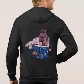 Men's German Shepherd Fleece Sleeveless Zip Hoodie