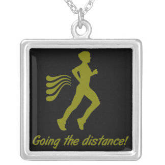"""Mens """"Going The Distance!"""" Running Necklace"""