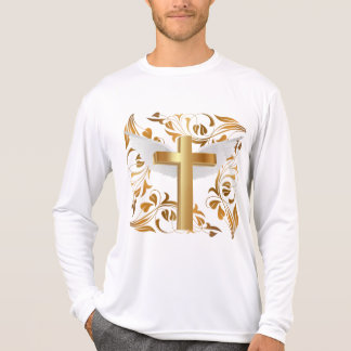Men's Gold Cross White Wings Competitor LongSleeve T-Shirt