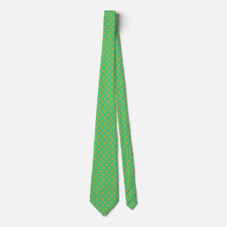 Men's Gold Polka Dot and Emerald Green Tie