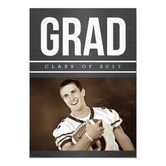 Men's Graduation Photo Announcement