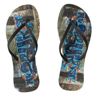 Men's Graffiti Sandals Thongs