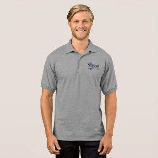 Men's gray polo shirt