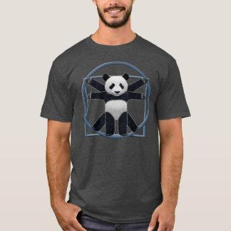 Mens Gray Vitruvian Panda T-Shirt