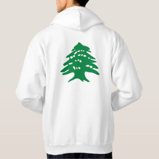 Men's green cedar hooded sweatshirt