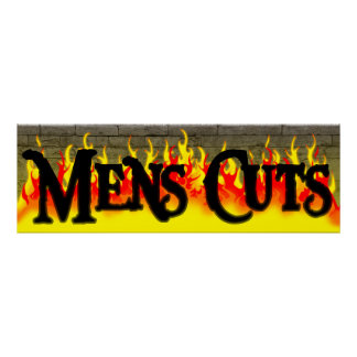 Mens Haircut Salon Poster