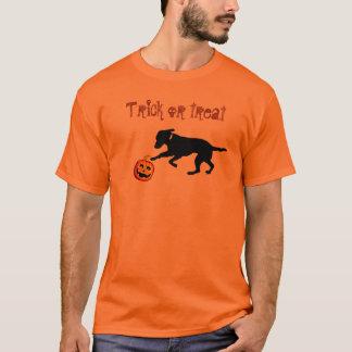 Men's Halloween black lab pumpkin T-Shirt