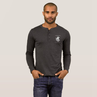 Men's Henley Long Sleeve Dark T-Shirt