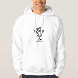 Men's Hooded Sweatshirt - Black & White Logo