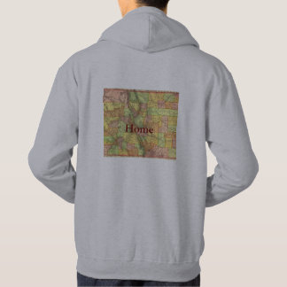 Men's Hoodie Colorado Home Map Outline