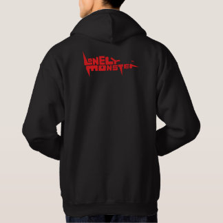 Men's Hoodie, Red Logo Front and Back Hoodie
