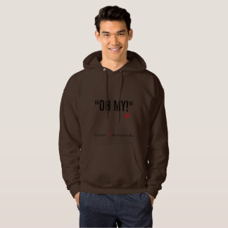 Men's Hoodie Red Text
