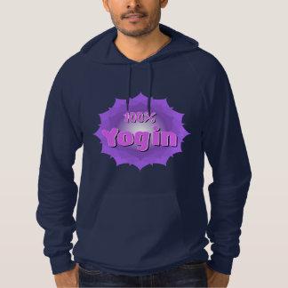 Men's hoodie with violet mandala