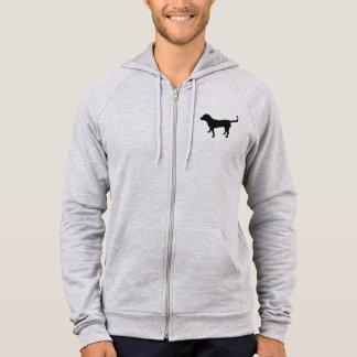 Men's hoodie zip black lab silhouette