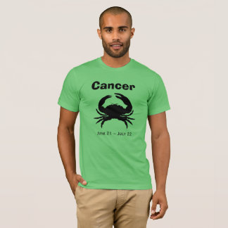 Mens Horoscope Zodiac Astrology Cancer Crab Jersey T-Shirt