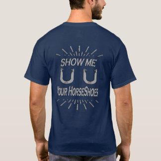 Men's HorseShoe Pitching Basic Dark T-Shirt