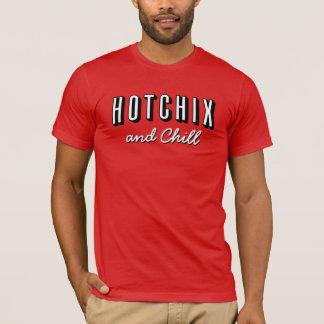 "Men's ""HOTCHIX and Chill"" T-shirt (Red)"