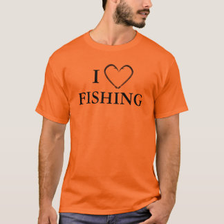 Men's I Fish Hook Heart Fishing T-Shirt