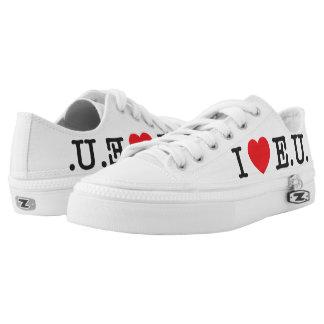 "Mens ""I Love EU"" Shoes Printed Shoes"