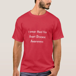 Men's I Wear Red for Heart Disease Awareness T-Shirt