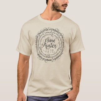 Men's Jane Austen Period Drama T-shirt Light Color
