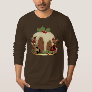Men's Jumper Christmas Pudding And Reindeeer T-Shirt