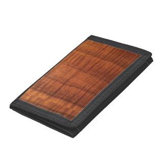 Men's Koa Wood Design Trifold Wallet