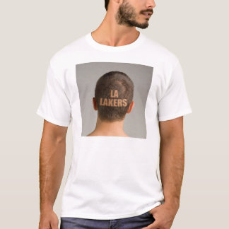 Men's LA Lakers Sports Haircut Shaved Head T-Shirt