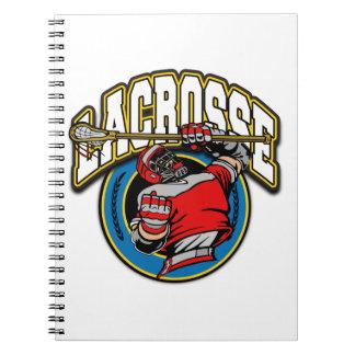 Men's Lacrosse Logo Spiral Notebook