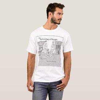 Men's Large White Archaeology of Thought T-Shirt