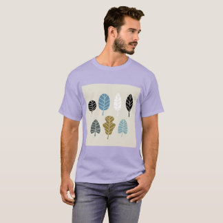 Mens lavender Tshirt with herbs