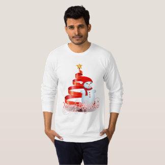 Men's Long Sleeve Christmas Snowman T-Shirt