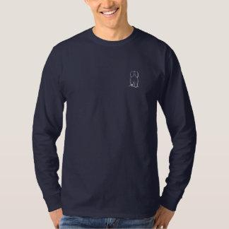 Mens long sleeve Haile Westie Gaurdian Angel T-Shirt