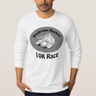 Mens long sleeve Quilcene Oyster 10K Tshirt