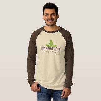 Men's Long Sleeve Raglan Cannatopia Logo Tee